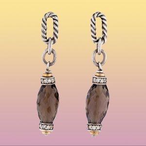 David Yurman Smoky Quartz Figaro Drop Earrings